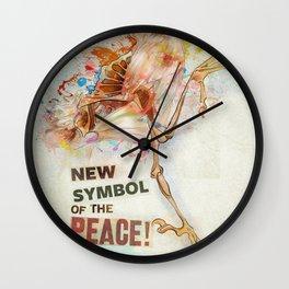 New Symbol Of The Peace Wall Clock