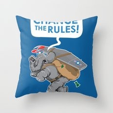 CHANGE The RULES Throw Pillow