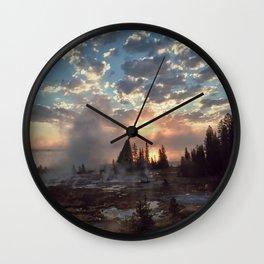 Geyser Sunrise Wall Clock