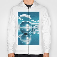 blue spheres in line paper Hoody