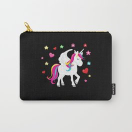Unicorn Hearts Flowers Magic Mythical Animal Pony Carry-All Pouch