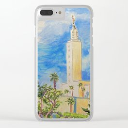 Los Angeles California LDS Temple Clear iPhone Case