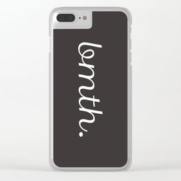 BMTH Simple Script Clear iPhone Case