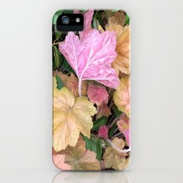 Pink Leaves iPhone Case