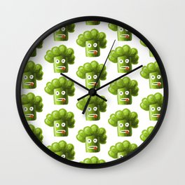 Funny Broccoli Pattern Wall Clock
