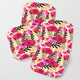 Vibrant Floral Wallpaper Coaster