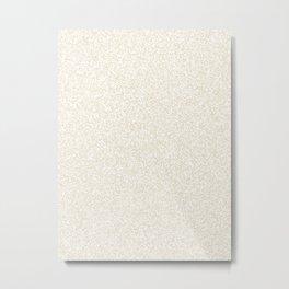 Spacey Melange - White and Pearl Brown Metal Print