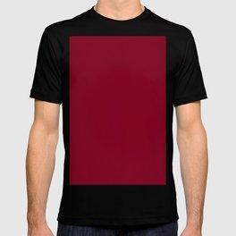 deep dark red or burgundy T-shirt