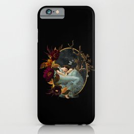 Vintage & Shabby Chic- Sleeping Girl In Heaven iPhone Case