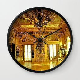Newport Mansions, Rhode Island - Marble House - Gold Room #2 Wall Clock