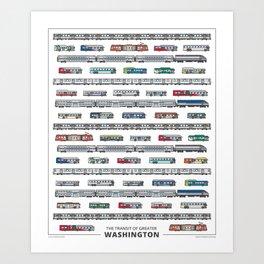 The Transit of Greater Washington Art Print