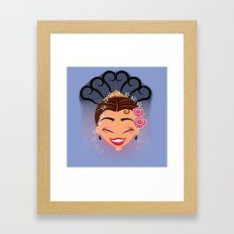 Tuti-Lady Flamenquerías/Character & Art Toy design for fun Framed Art Print