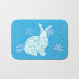 Iced Touchy Bunny Bath Mat