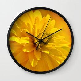 Dahlia yellow 081 Wall Clock