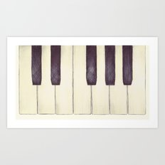 Ebony and Ivory Art Print