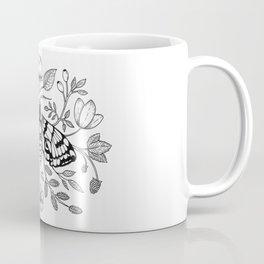 Moth with Berries and Rosehip Coffee Mug