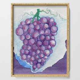 Grape Collage Serving Tray