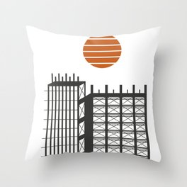 City in construction Throw Pillow
