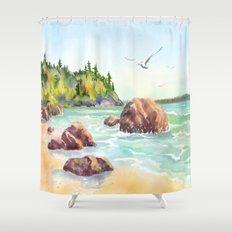 Morning on the Beach Shower Curtain