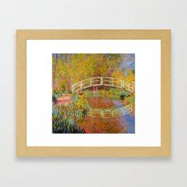 Claude Monet Japanese Footbridge in Monet's Garden 1896 Framed Art Print