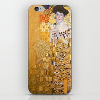gustav klimt iPhone & iPod Skins featuring Gustav Klimt - The Woman in Gold by Elegant Chaos Gallery