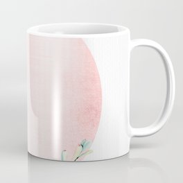 Desert Rose Gold Cactus Sun Coffee Mug