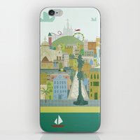 barcelona iPhone & iPod Skins featuring Barcelona by LaPendeja