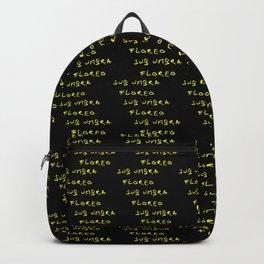 Motto of belize 2 -black and golden version -  -Sub umbra floreo. Backpack
