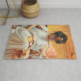 John William Waterhouse Cleopatra Rug