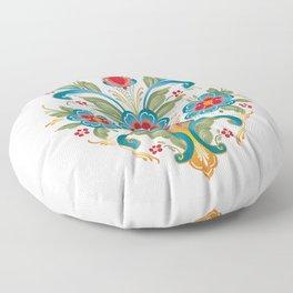 Nordic Rosemaling Floor Pillow
