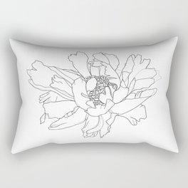 Single flower botanical illustration - Ruby Rectangular Pillow