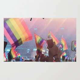 Harry Styles - rainbow flag Rug