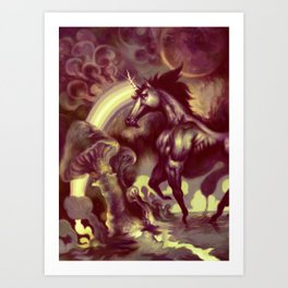 Ultra Unicorn Power Art Print