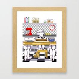Chef Dog Series: Chef Westie Framed Art Print