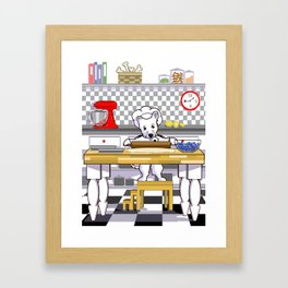 Chef Dog Series: Chef Westie Framed Art Print