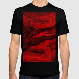 Blood Red Marble T-shirt