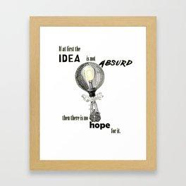 Absurd Idea Framed Art Print