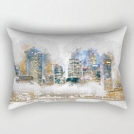 Singapore river skyline building Rectangular Pillow