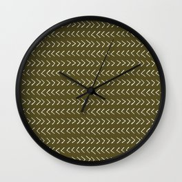 Arrows on Bronze-Olive Wall Clock