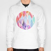 bedding Hoodies featuring Purple & Peach Love - abstract painting in rainbow pastels by micklyn