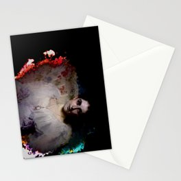 Cracked Portrait of a Woman Stationery Cards