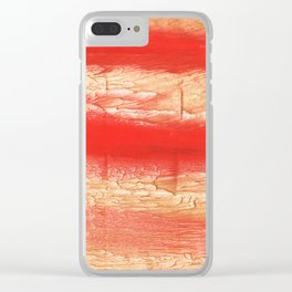 Burnt sienna abstract watercolor Clear iPhone Case
