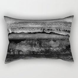 layers in grayscale Rectangular Pillow