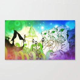 God Gamble Monster World Canvas Print