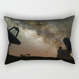 Radio Telescopes and Milky Way Rectangular Pillow