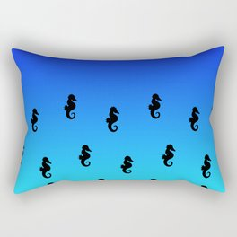 Under the Sea(horse)-Dark to Light Rectangular Pillow