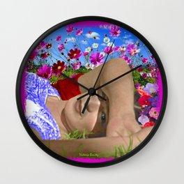 FRIDA kAHLO, Y LAS FLORES Wall Clock