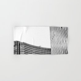 modern style buildings at Las Vegas, USA in black and white Hand & Bath Towel