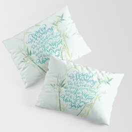 Be Strong and Courageous - Joshua 1:9 - bamboo Pillow Sham