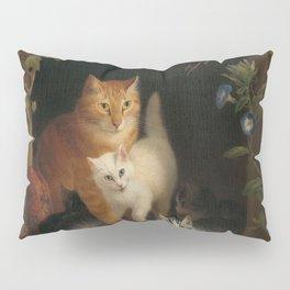 Henriëtte Ronner - Cat with kittens (1844) Pillow Sham
